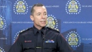 Calgary police chief Mark Neufeld discusses a recent spate of violence in the city