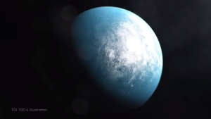 TOI 700 d is the first potentially habitable Earth-size planet spotted by NASA's planet-hunting TESS mission. (NASA's Goddard Space Flight Ctr/CNN)