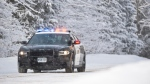 OPP Cruiser in the snow. (Source South Bruce OPP)