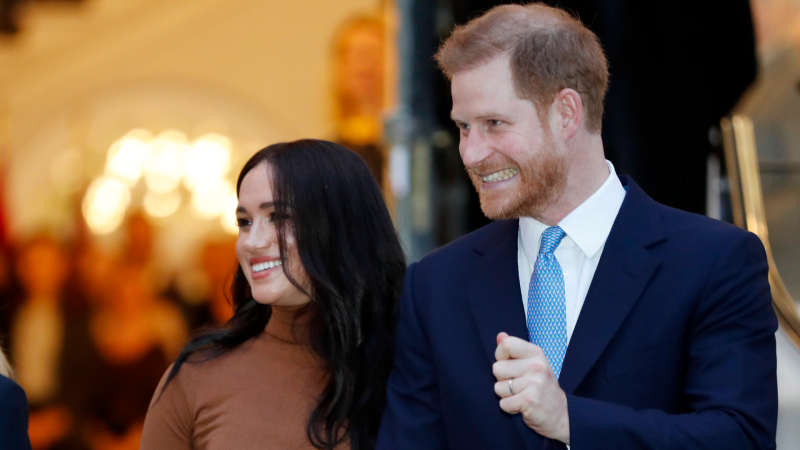 Prince Harry and Meghan, Duchess of Sussex leave after visiting Canada House in London, Tuesday Jan. 7, 2020, after their recent stay in Canada. (AP Photo/Frank Augstein)
