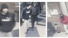 Windsor police released photos of three suspects who are considered armed and dangerous after a home invasion. (Courtesy Windsor police)