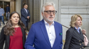 Gilbert Rozon founder of the Just for Laughs festival, leaves the Quebec Court of Appeals, Thursday, May 16, 2019 in Montreal. THE CANADIAN PRESS/Ryan Remiorz