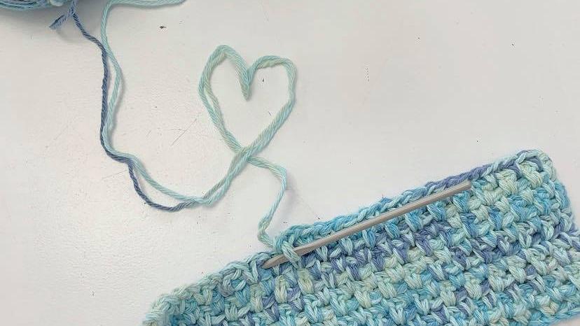 Knitting materials.