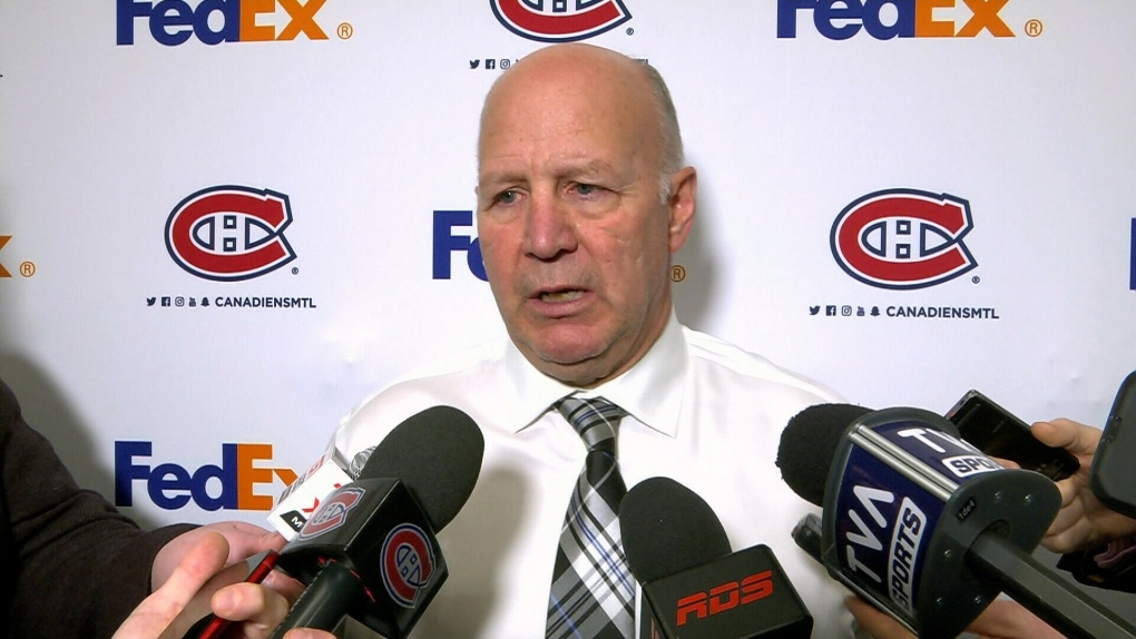 Montreal Canadians coach Claude Julien