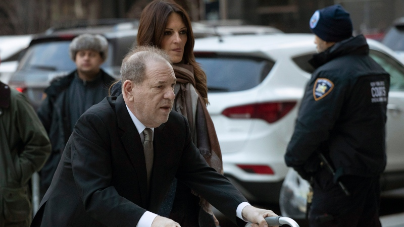 Harvey Weinstein arrives at court for jury selection in his sexual assault trial Wednesday, Jan. 8, 2020, in New York. (AP Photo/Mark Lennihan)