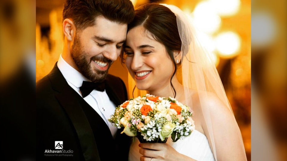 Pouneh Gorji and Arash Pourzarabi, both University of Alberta graduate students, were in Tehrar to get married. Jan 8, 2020.