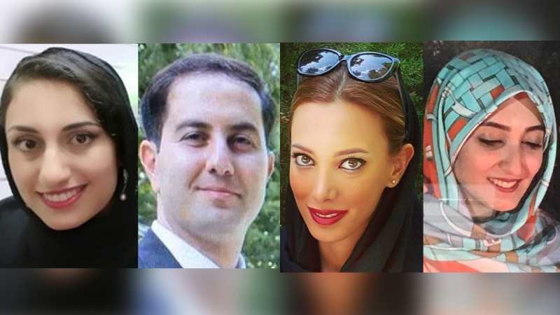 From left, Hadis Hayatdovoudi, Milad Nahavandi, Ghazal Nourian and Sajedeh Saraeian, all Western University students, were killed in a Ukrainian Airlines crash in Iran.