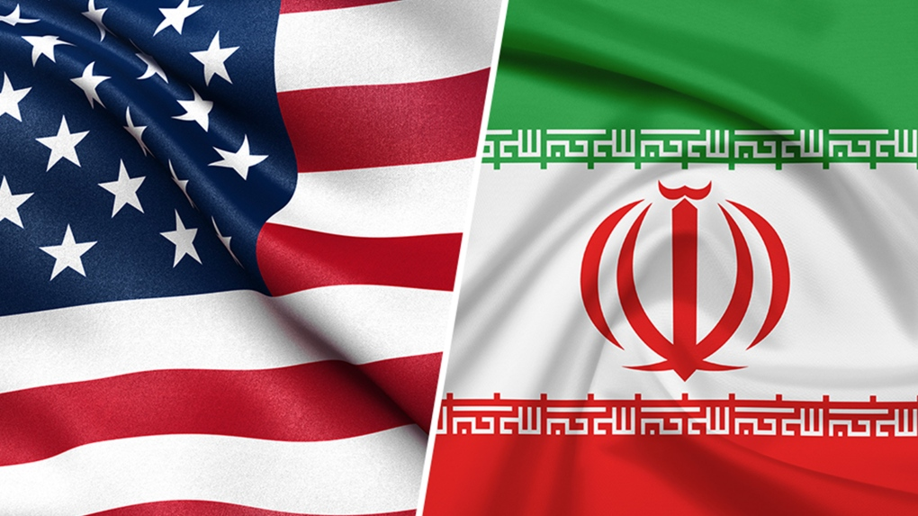 U.S. and Iranian flags