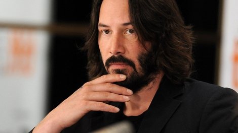 Actor Keanu Reeves participates in ae news conference at the Toronto International Film Festival on Tuesday, Sept. 15, 2009. (AP / Evan Agostini)
