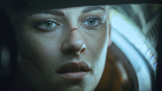 Kristen Stewart in a scene from 'Underwater.' (Alan Markfield / Twentieth Century Fox via AP)