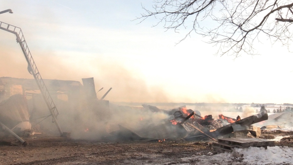 A barn fire outside of Elmira