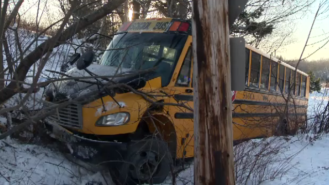 A school bus carrying 23 people left Fall River Road the morning of Jan. 9, 2020.
