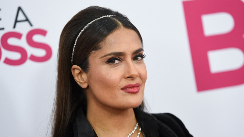 "Actress Salma Hayek attends the world premiere of ""Like a Boss"" at the SVA Theatre on Tuesday, Jan. 7, 2020, in New York. (Photo by Evan Agostini/Invision/AP)"