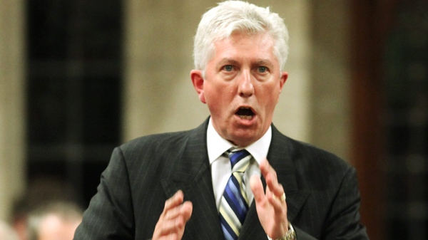 Bloc Quebecois Leader Gilles Duceppe stands in the House of Commons during question period in Ottawa, Tuesday, Sept. 15 , 2009. (Fred Chartrand / THE CANADIAN PRESS)
