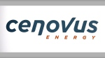 Cenovus Energy logo at the company's annual meeting in Calgary, Wednesday, April 25, 2012. THE CANADIAN PRESS/Jeff McIntosh