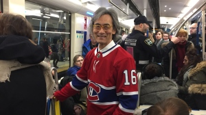 Montreal Symphony Orchestra conductor and artistic director Kent Nagano was spotted on the metro before he led the national anthem at the Montreal Canadiens game Jan. 9, 2020.