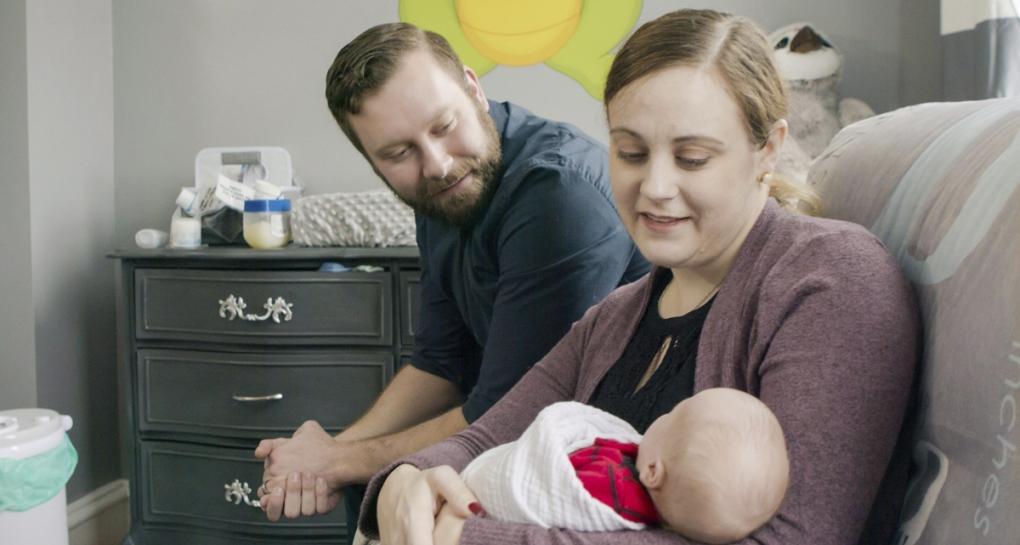 Jennifer and Drew Gobrecht with baby Benjamin