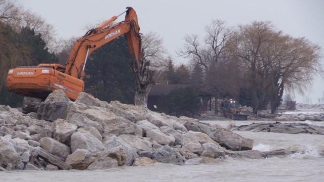 Goderich shoreline erosion prevention