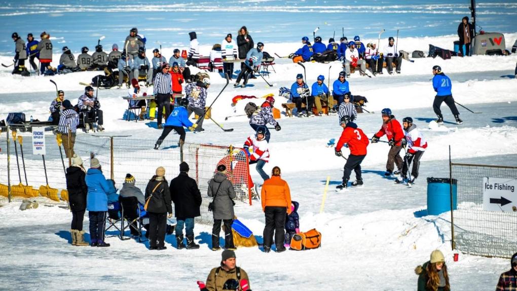 Pond Hockey Festival on the Rock