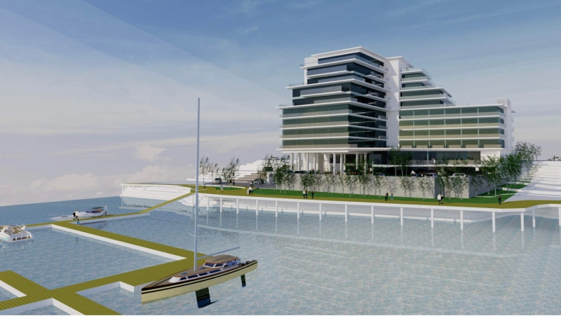 The proposal would replace the existing four-storey, 45-room hotel and put in its place a 10-storey, 110-room hotel with multiple food and beverage outlets, spa facilities and underground parking, as well as condominiums.