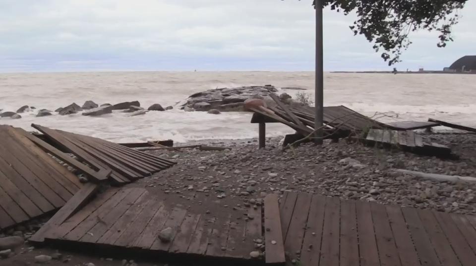 Goderich boardwalk damage