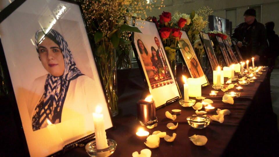 Tehran crash vigil