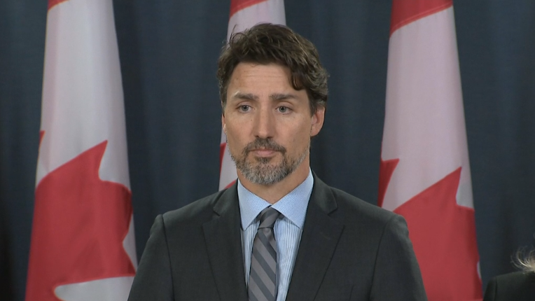 Prime Minister Justin Trudeau speaks at a news conference on Saturday, Jan. 11, 2020.