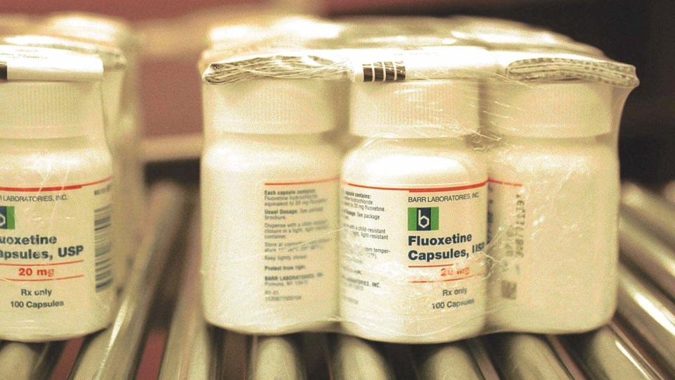 A Barr Laboratories Inc.'s 20mg capsules of generic Prozac are packaged and ready to be shipped on Tuesday, July 31, 2001, in Forest, Va. (AP Photo/The News & Advance, R. David Duncan III)