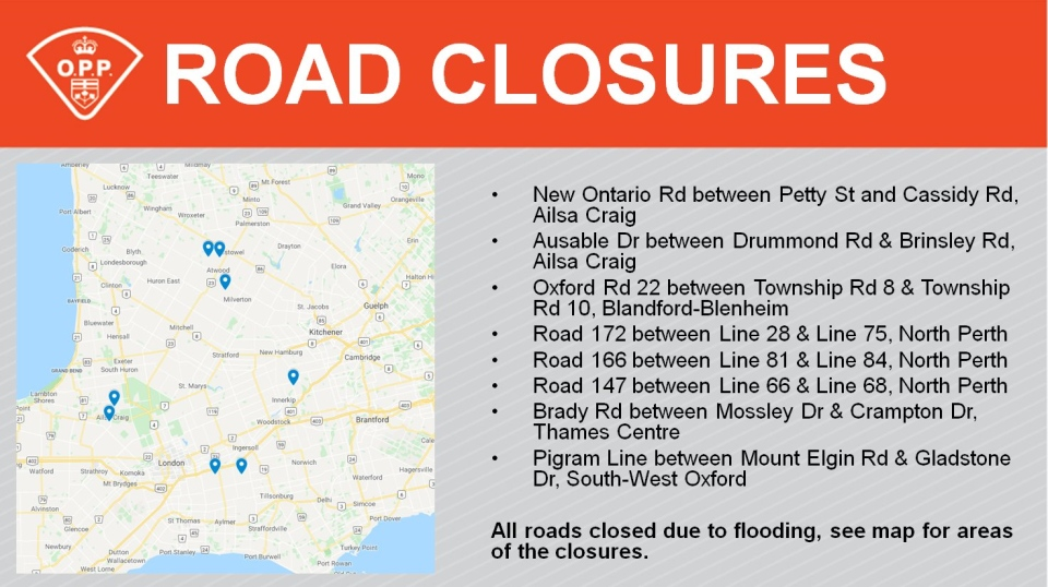OPP closes roads in Ailsa Craig and Oxford County