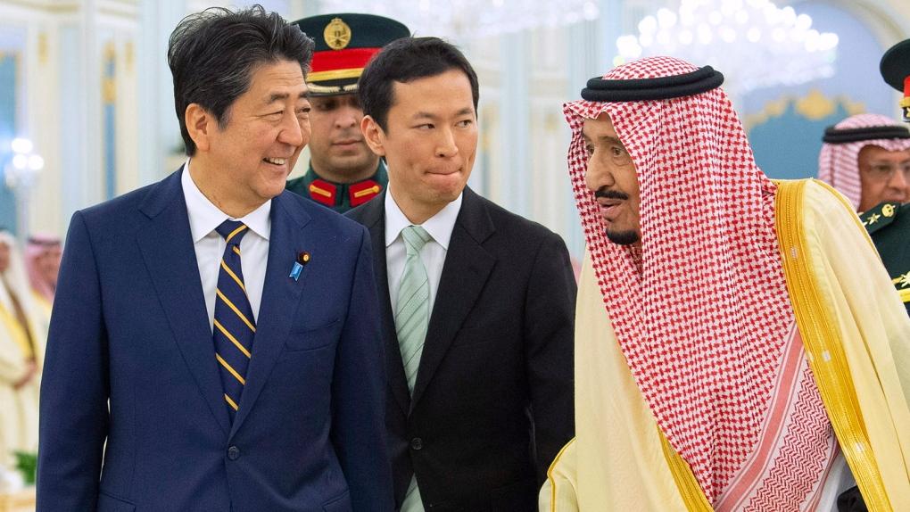 Japan's Abe meets Saudi king amid threats in Persian Gulf