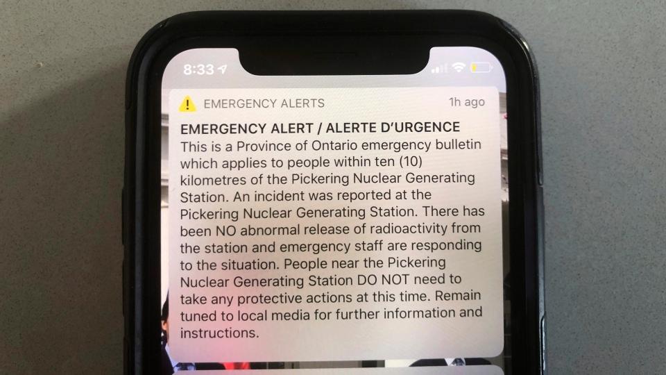 Pickering alert