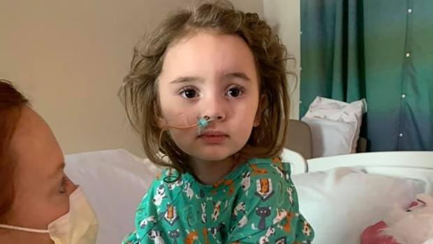 Jade DeLucia after she regained consciousness. (Amanda Phillips/Facebook)