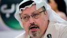 In this Dec. 15, 2014 file photo, Saudi journalist Jamal Khashoggi speaks during a press conference in Manama, Bahrain. (AP Photo/Hasan Jamali, File)