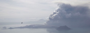 Volcanic ash covers parts of the Philippines