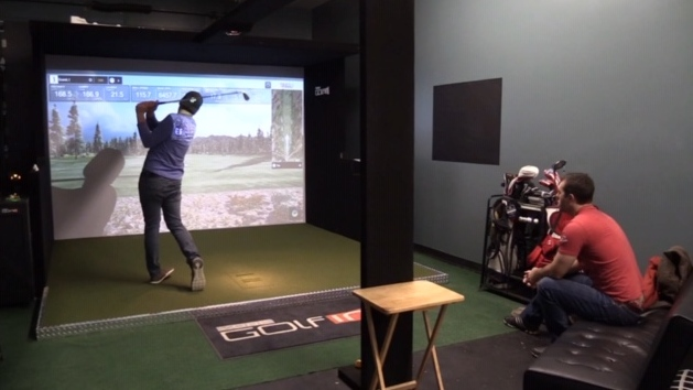 Virtual golf at Fore on the Floor