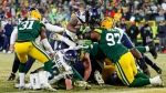 Seattle Seahawks' Marshawn Lynch runs for a touchdown during the second half of an NFL divisional playoff football game against the Green Bay Packers Sunday, Jan. 12, 2020, in Green Bay, Wis. (AP Photo/Matt Ludtke)