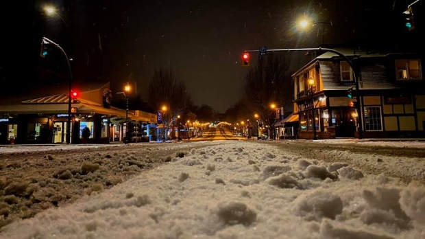 Oak Bay snow