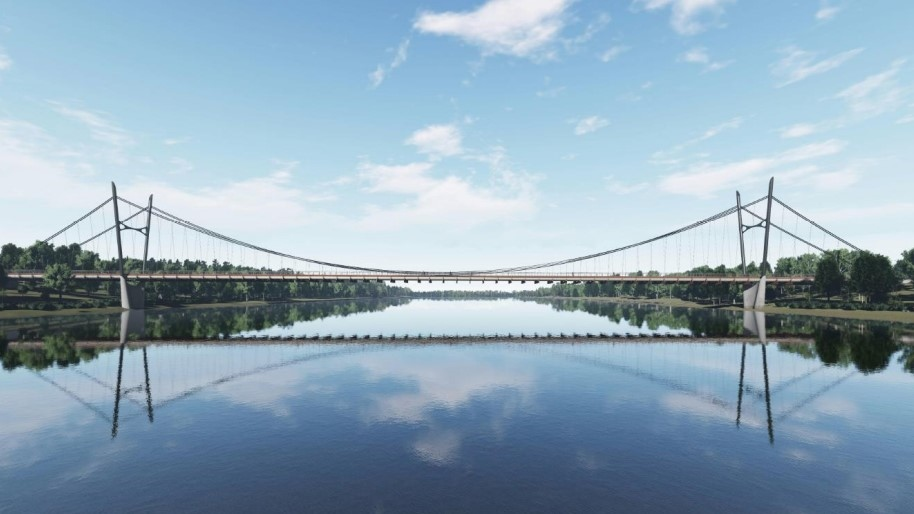 Possible pedestrian bridge in Saskatoon