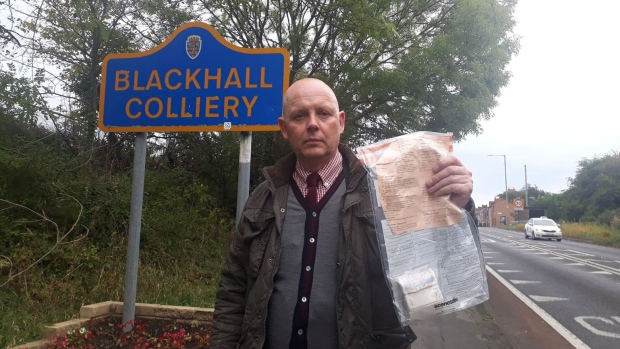 Residents of a small village in northern England have been left mystified by the regular appearance of bundles of bank notes on its streets. But now, police have solved the case of case. (Durham Constabulary)