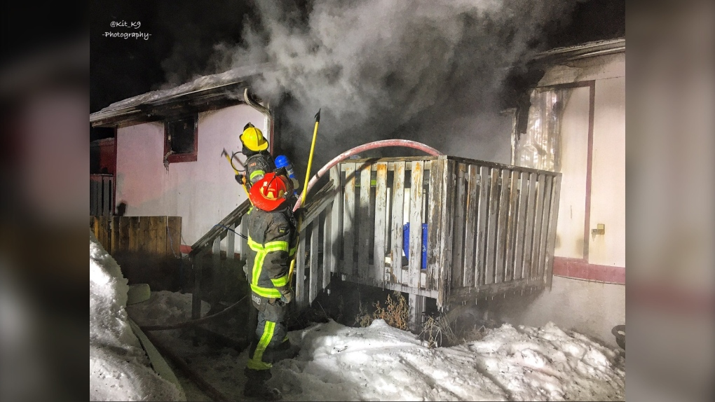 Canmore, house fire, Spring Creek Gate