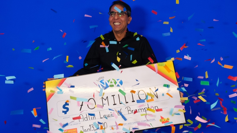 Brampton's Adlin Lewis has won a record-breaking Lotto Max lottery ticket in the Greater Toronto Area. (Ontario Lottery and Gaming Corporation)