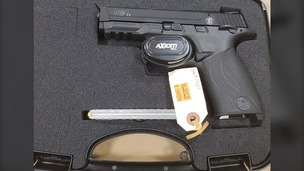 Surrey RCMP handgun seized