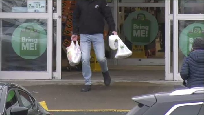 Plastic bags were removed at midnight Thursday from Sobeys stores across the country.