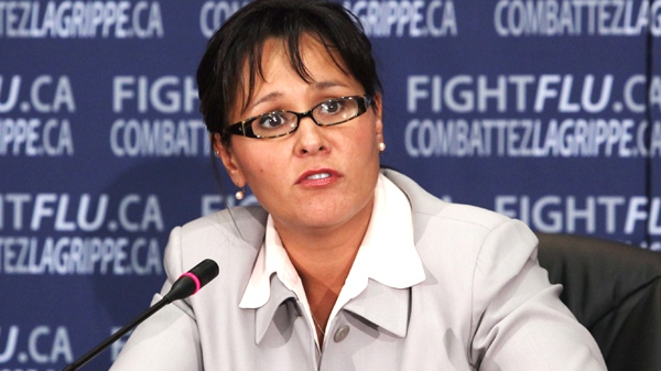 Health Minister Leona Aglukkaq speaks at a news conference in Ottawa, on Wednesday, Sept. 16, 2009. (Fred Chartrand / THE CANADIAN PRESS)