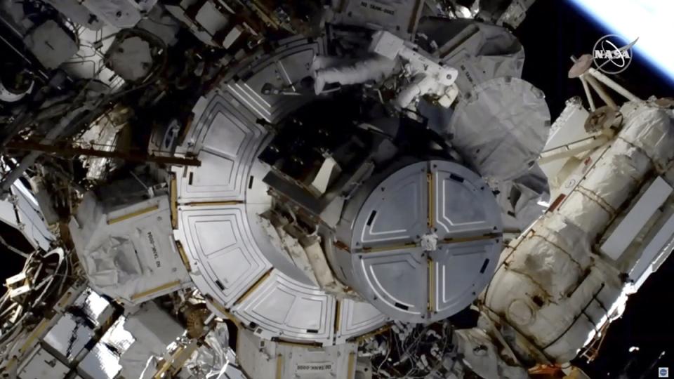 NASA astronaut Jessica Meir at work