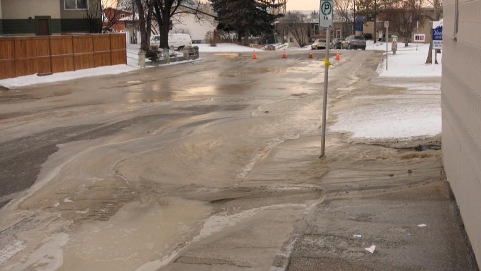 water main break, Calgary, Calgary Water Services