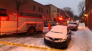 Firefighters were called to a small blaze in Montreal's Plateau-Mont-Royal borough.