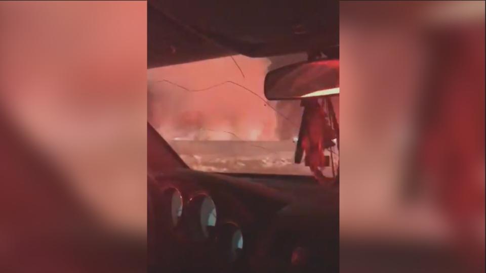 Groat Road fire