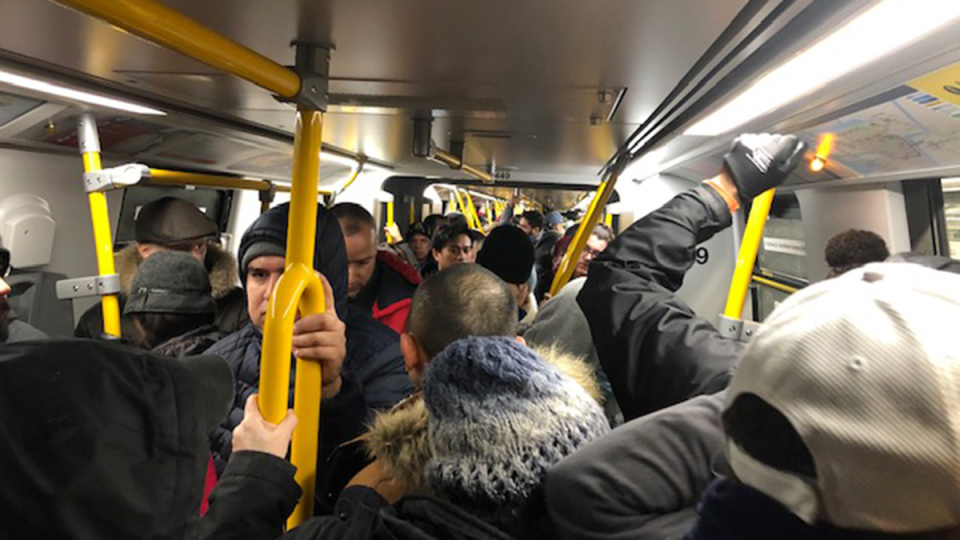 SkyTrain delays due to weather