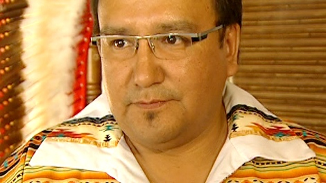 Grand Chief David Harper speaks with CTV News in Winnipeg, on Wednesday, Sept. 16, 2009.